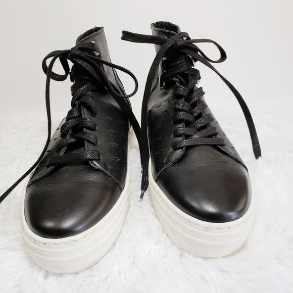 K-Swiss Shoes - K-Swiss Modern Black Leather High Top, Size 7.5